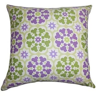 The Pillow Collection Ocussi Geometric Pillow, Black