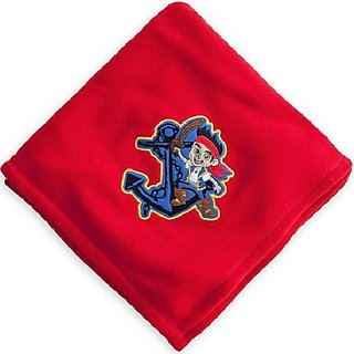 Disney Jake and The Neverland Pirates Fleece Throw Blanket - Red