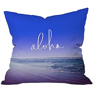 DENY Designs Leah Flores Aloha Beach Throw Pillow, 20 x 20