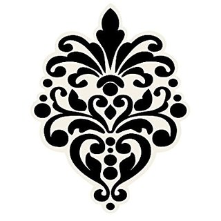 Wallies Peel & Stick Vinyl Wall Decals, Beautiful Black Baroque Wall Sticker, Includes 12 Decals
