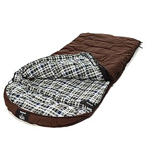 Venetian Worldwide Grizzly Private Label 0 Degree Canvas Sleeping Bag, Auburn Brown,