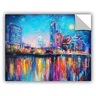 ArtWall Svetlana Novikovas Impressionistic Austin Art Appealz Removable Wall Art Graphic, 14 by 18-Inch