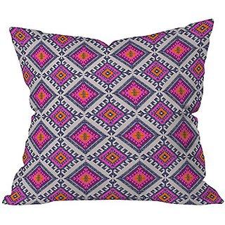 DENY Designs Holli Zollinger Shakami Bright Throw Pillow, 18 x 18