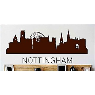 Design with Vinyl Cryst 456 958 Brown Nottingham Skyline City View Beautiful Scene Landmarks, Buildings and Water Vinyl