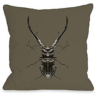 Bentin Home Decor Horned Beetle Throw Pillow by Matthew Woodson, 20
