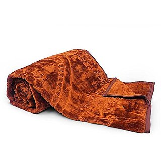 Little India Rich Look Soft Korean Single Bed Embossed Blanket 109