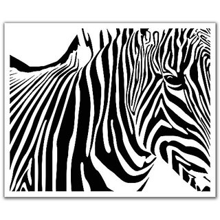 JP London Peel and Stick Removable Wall Decal Sticker Mural, Black and White Zebra Rolling Stone, 24 by 19.75-Inch