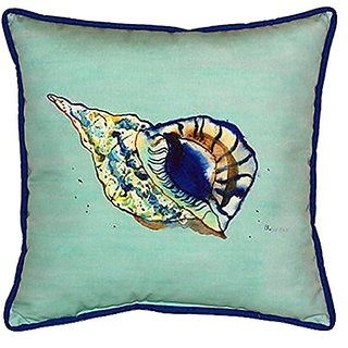 Betsy Drake Betsys Shell Indoor/Outdoor Pillow, 18