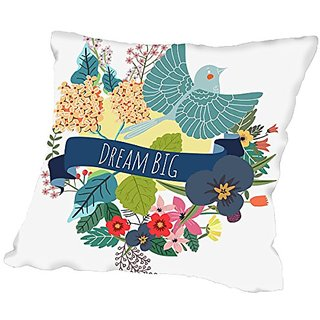 American Flat Dream Big Pillow by Mia Charro, 18
