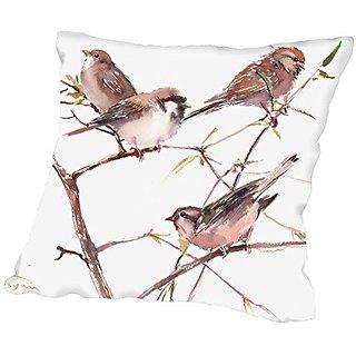 American Flat Sparrow Group Pillow by Suren Nersisyan, 18