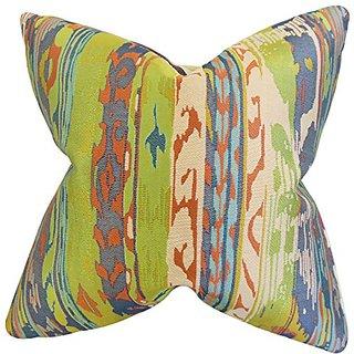 The Pillow Collection Ogun Ikat Pillow, Green