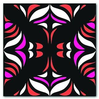 Kess InHouse MM4002AKP01 Miranda Mol Magenta Orange Hawaiian Retro Art Clings 12-Inch x 12-Inch Square Sticker Wallpaper
