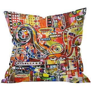 DENY Designs Robin Faye Gates It Came From Detroit Throw Pillow, 20 x 20