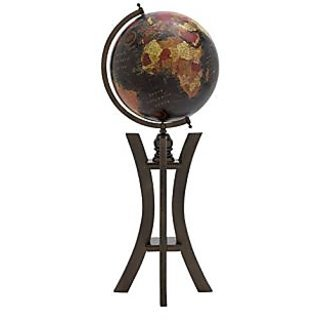 Deco 79 Wood Metal Globe, 12 by 32-Inch