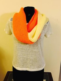 Stylish Multicolored Neck Warmer Made Using Vardhman Cashmelon Wool
