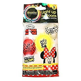 Illooms Minnie Mouse & Friends Light Up Balloons 5 Pack