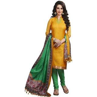 Art Silk Printed, Solid Salwar Suit Dupatta Material  (Un-stitched)