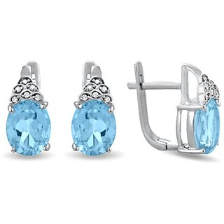 Karats Silver925 Earring in Blue Topaz Collection - Option 7
