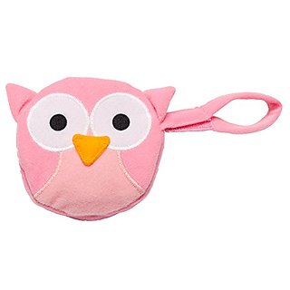 J.L. Childress Pacifier Pal Pacifier Pocket, Pink Owl
