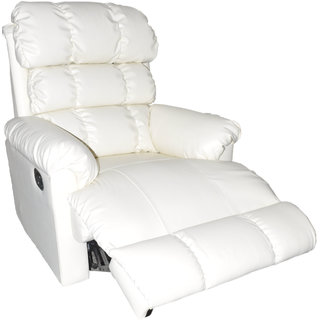 ZAIN-white comfy recliner sofa single seater with 3 bags for back support