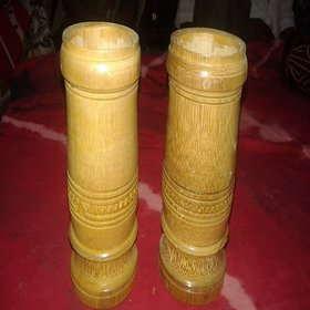 Bamboo Artificial Flower Vase (Set of 2)