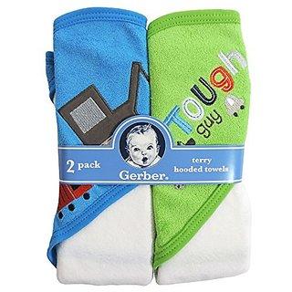 Gerber Hooded Towels, Trucks, 2-Count