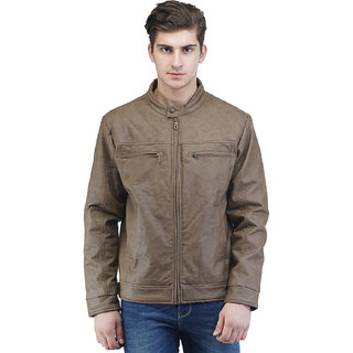 Be-Beu Brown Leather Jacket: Buy Be-Beu Brown Leather Jacket ...