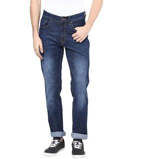 Richlook Blue Regular Fit Mid Rise Jeans For Men