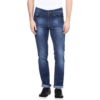 Richlook Blue Slim Fit Mid Rise Jeans For Men
