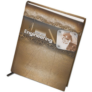 WORLDSTAR 2017 Engineering Themed New Year Diary, Bookmark string, Hardbound 364 pages, Glossy Cover