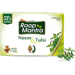 Roop Mantra Neem and Tulsi Soap ( Pack of 10 pcs.) 75g + 25g (Extra)  each soap