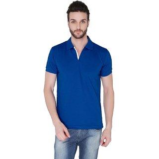 Joke Tees Solid Mens Polo TShirt Royal Blue