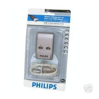 PHILIPS USB 2.0 Sharing Switch, Allows 2 Computers to Share one USB Device