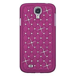 Amzer 95746 Diamond Lattice Snap On Shell Case - Purple for Samsung GALAXY S4 GT-I9500