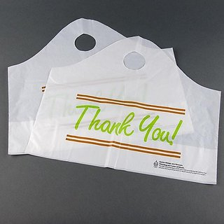 Elkay Plastics TO165146TY Take Out Bag with Wave Top Handle, Printed