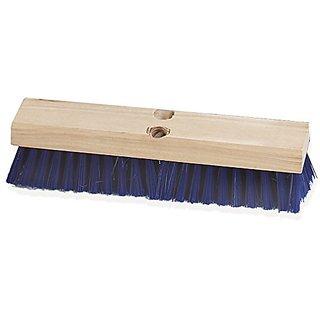 Carlisle 3627514 Flo-Pac Wood Block Stiff Deck Scrub, Polypropylene Bristles, 2