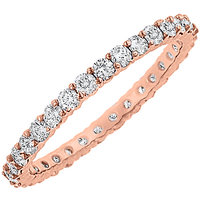 LoveBrightJewelry In Vogue 14K Rose Gold & Diamond Eternity Bangle