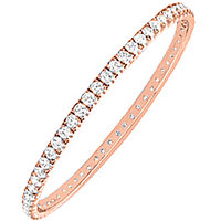 LoveBrightJewelry In Style 14K Rose Gold & Diamond Eternity Bangle