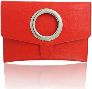 PYFashion Envelope Clutch With synthetic leather