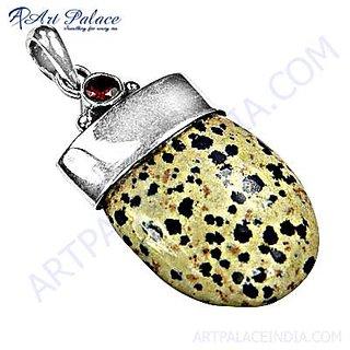 Top Design 925 Sterling Silver Agate & Garnet Pendant