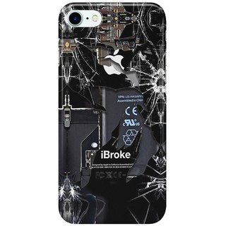 Dreambolic Broken,-rupture,-damaged,-cracked-black-apple-iPhone-4-5-5s-5c,-ipad,-pillow-case-and-tshirt Back Cover for Apple iPhone 7
