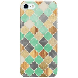Dreambolic Charcoal,-Mint,-Wood--Gold-Moroccan-Pattern Back Cover for Apple iPhone 7