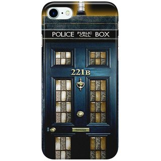Dreambolic Tardis-doctor-who-Mashup-with-sherlock-holmes-221b-door Back Cover for Apple iPhone 7