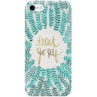 Dreambolic Treat-Yo-Self--Gold--Turquoise Back Cover for Apple iPhone 7