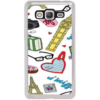 ifasho Modern Art Design Pattern camera box spec love tower Back Case Cover for Samsung Galaxy Grand Prime