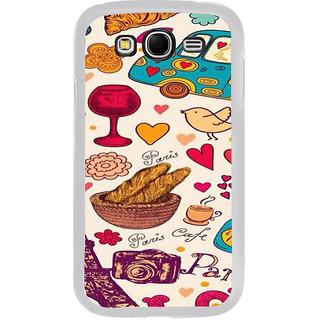 ifasho Modern Art Design Pattern car food tower bird Back Case Cover for Samsung Galaxy Grand 2