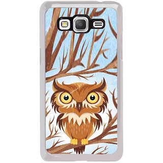 ifasho Animated Owl Pattern Back Case Cover for Samsung Galaxy Grand Prime