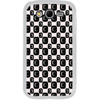 ifasho Modern Theme of black and white Squre and dots pattern Back Case Cover for Samsung Galaxy Grand