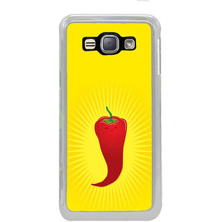 ifasho Red Chillies Back Case Cover for Samsung Galaxy J1 (2016 Edition)