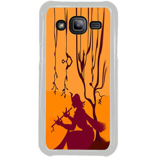 ifasho Lord Krishna with Flute animation Back Case Cover for Samsung Galaxy J2